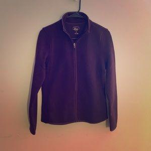 NWT maroon Bass Zip Up Sweater
